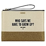 Grow Up Canvas Glitter Clutch by Kate Spade New York
