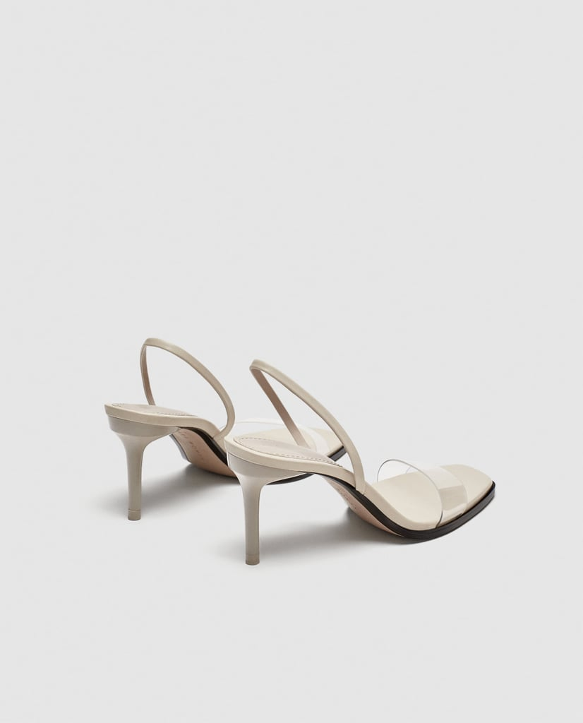 Zara Vinyl Strap Sandals
