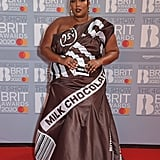 Lizzo on the 2020 BRIT Awards Red Carpet