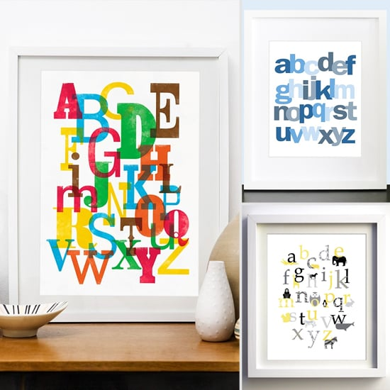 10 Nursery-Perfect Alphabet Prints From Etsy