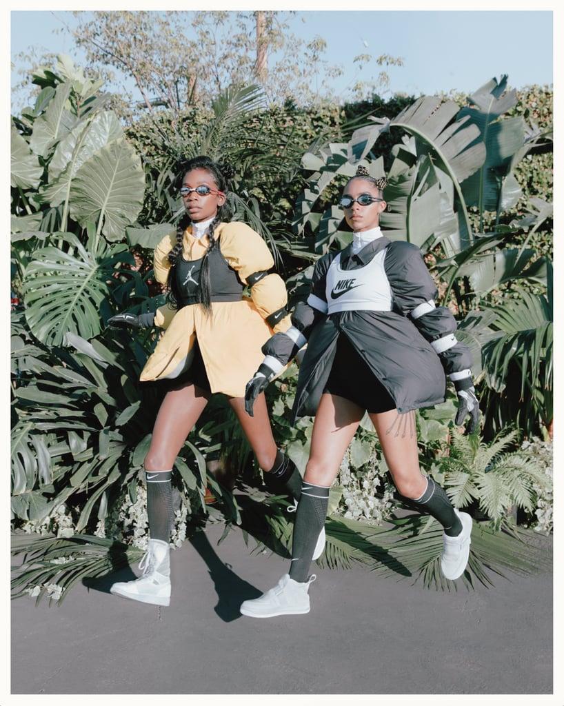 Abra is wearing the Air Jordan 1 Explorer XXs and Kelsey Lu is wearing the Air Force 1 Explorer XXs.