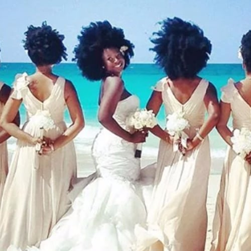 Natural Hair Wedding Photos