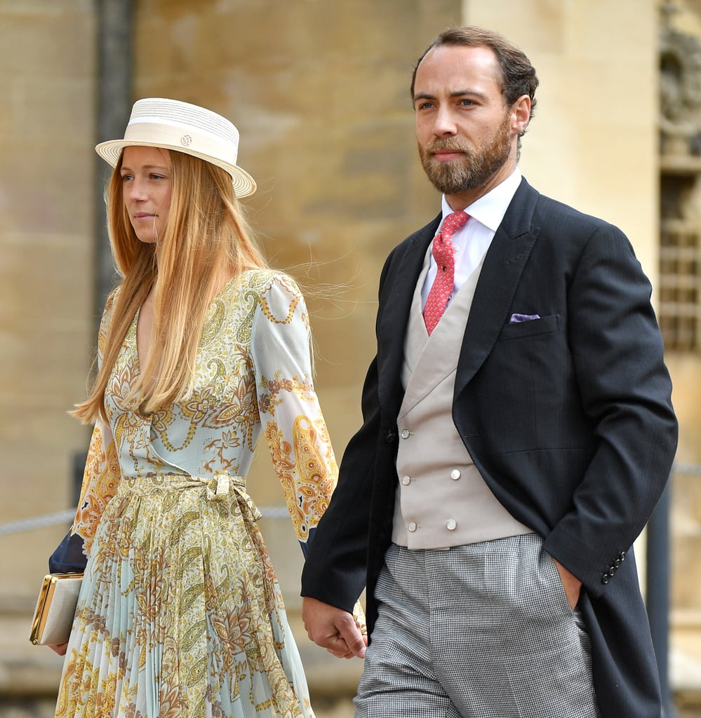 Alizee Thevenet Wearing a $70 H&M Paisley Print Dress at Lady Gabriella Windsor's Wedding