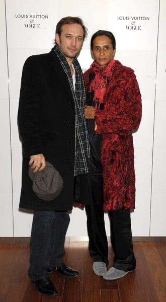 Actor Vincent Perez, model/actress Karine Sylla