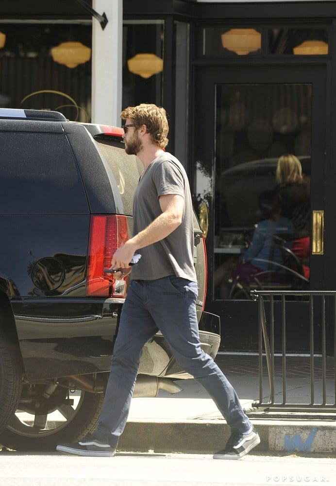 Liam Hemsworth Heads to Lunch as Catching Fire Picks Up Steam