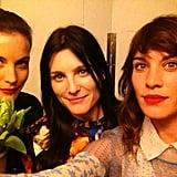 Alexa Chung snapped a photo with Liv Tyler and designer Tabitha Simmons. Source: Twitter user alexa_chung
