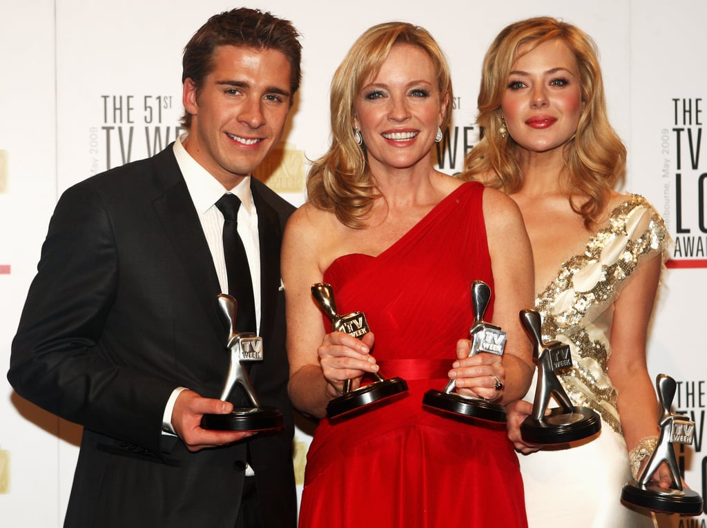 2009: Hugh Sheridan, Rebecca Gibney and Jessica Marais