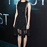 Kruger emitted edge and elegance in a sheer, embellished LBD by Thakoon, which she paired with two-toned metallic Jimmy Choos for the LA premiere of The Host in March 2013.