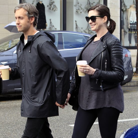 Anne Hathaway and Adam Shulman Out in LA January 2016