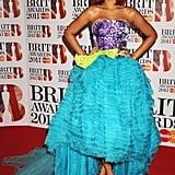 Rihanna Wearing John Galliano For Christian Dior at the 2011 Brit Awards