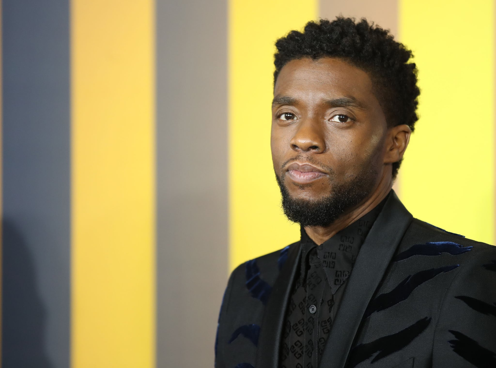 LONDON, ENGLAND - FEBRUARY 08:  Chadwick Boseman attends the European Premiere of 'Black Panther' at Eventim Apollo on February 8, 2018 in London, England.  (Photo by Mike Marsland/Mike Marsland/WireImage)