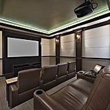 The home has a screening room with leather recliners.