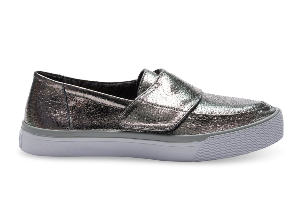 450b1316751 Toms Gunmetal Leather Women's Altair Slip-Ons ($98) Who It Benefits ...
