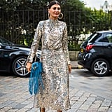Wear Your High-Shine Sequined Dress During the Day