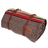 Pendleton Twin Wool Camp Blanket With Leather Carrier