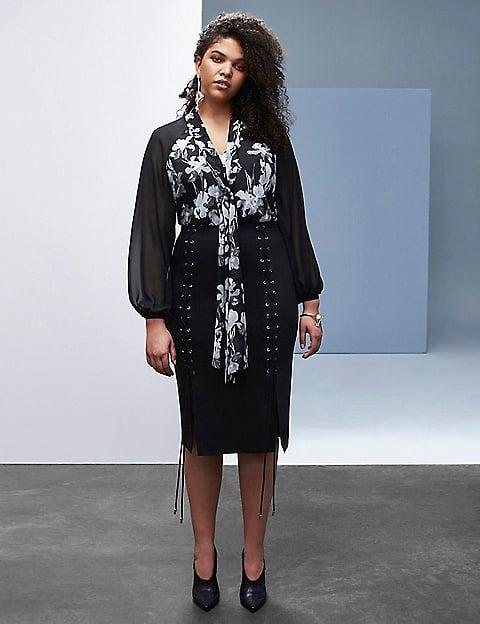 Black & White Floral Blouse ($88)