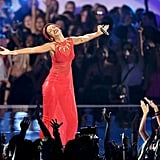 Rihanna belted it out onstage at the VMAs.
