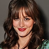 Leighton Meester smiled at NYFW.