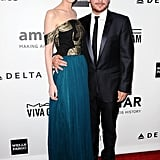 Lydia Hearst and Kevin Connolly coupled up on the red carpet.