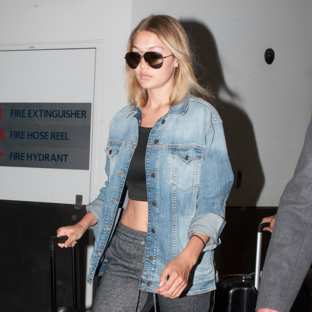 Gigi Hadid Sexy Sweatpants Airport Style