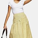 Topshop Daisy Organza Midi Skirt