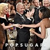 Abgebildet: Lady GaGa, Taraji P. Henson, and Ryan Murphy