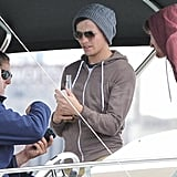 One Direction members hung out together in Australia on a boat.