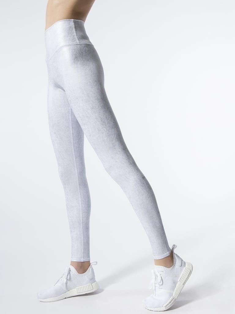 86aa0cff25939 Alo Yoga High-Waist Airbrush Leggings in Slate Metallic/White | Best ...