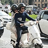 The couple toured the streets of Rome in April 2014.
