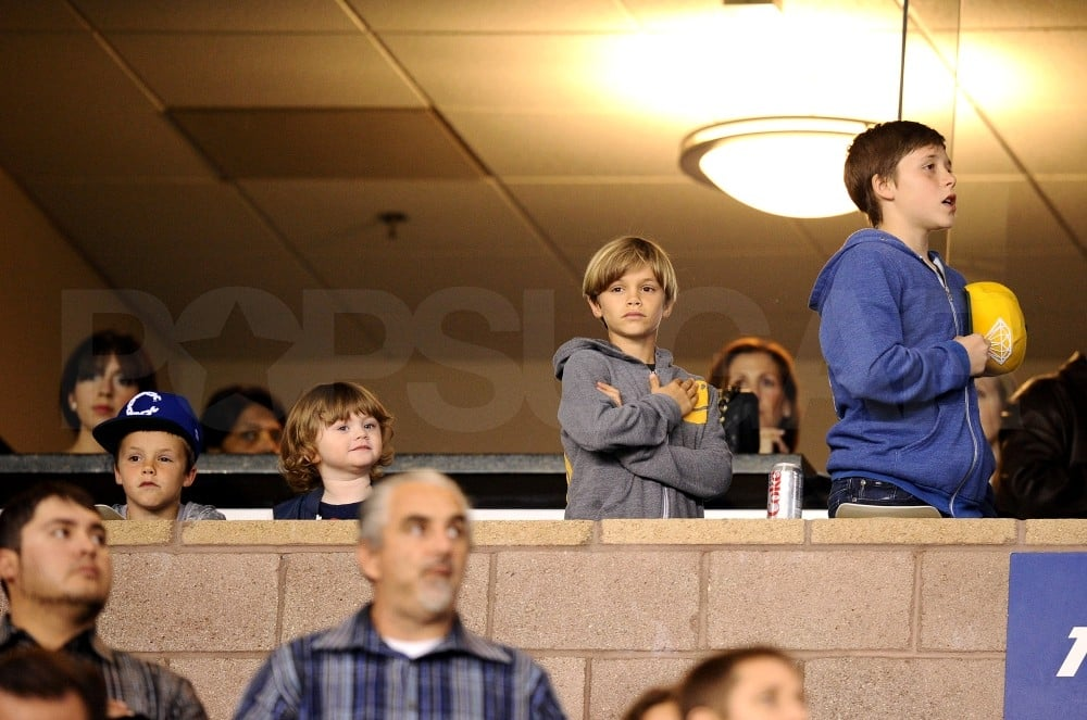 David Beckham Hits the Field With His Sons Up in the Stands