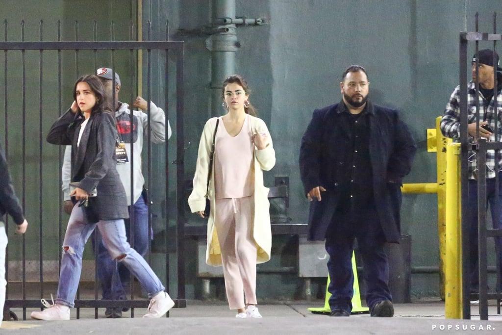Selena Gomez Pink Ribbed Set