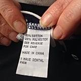 """Found this on my shirt"" Source: Reddit user cjnewzealand via Imgur"