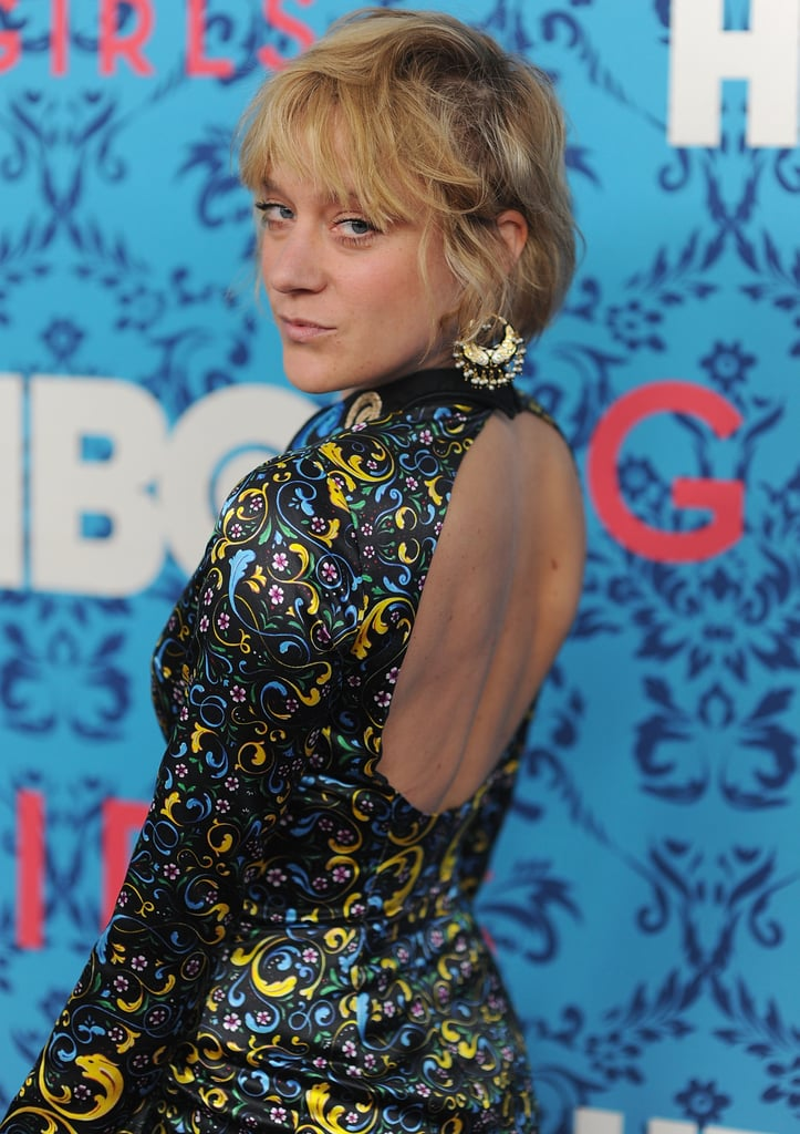 Chloe Sevigny's colorful dress had a cutout back at the premiere of HBO's Girls in NYC.