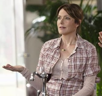 Ellie Torres In Plaid Shirt and Jeans on Cougar Town