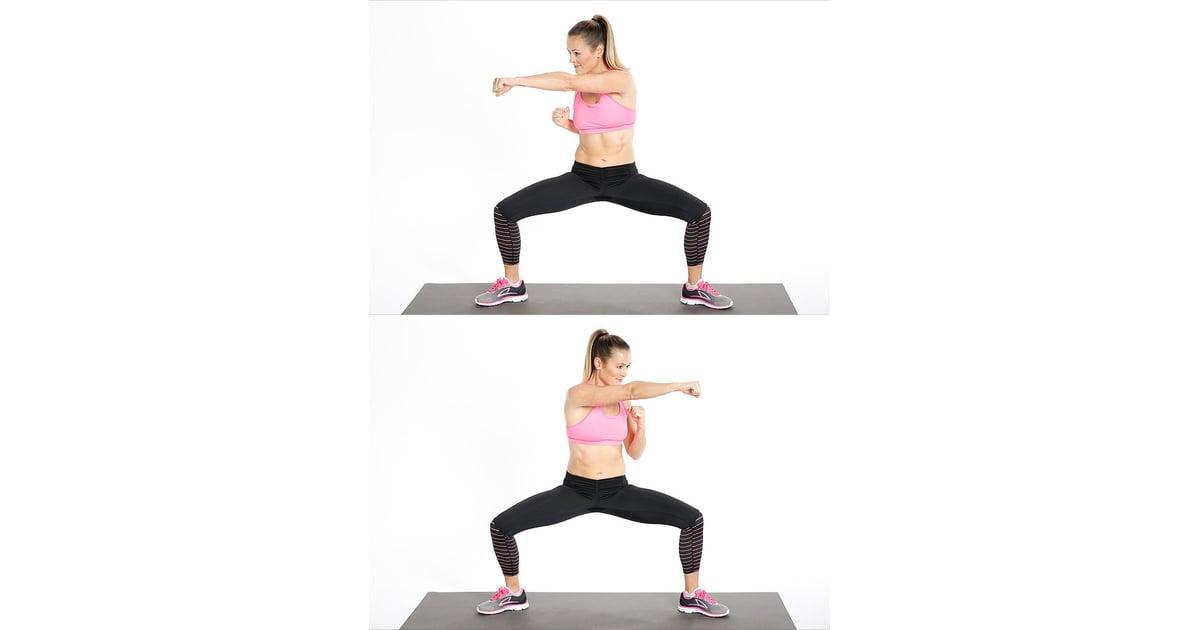 Sumo Squat And Punch Best Cardio Bodyweight Exercises
