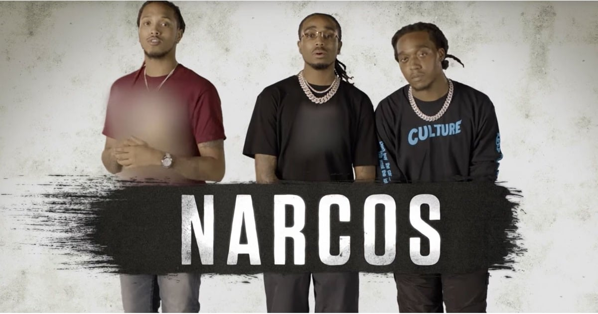 Migos Reading Narcos Mexico Scene Video | POPSUGAR Entertainment