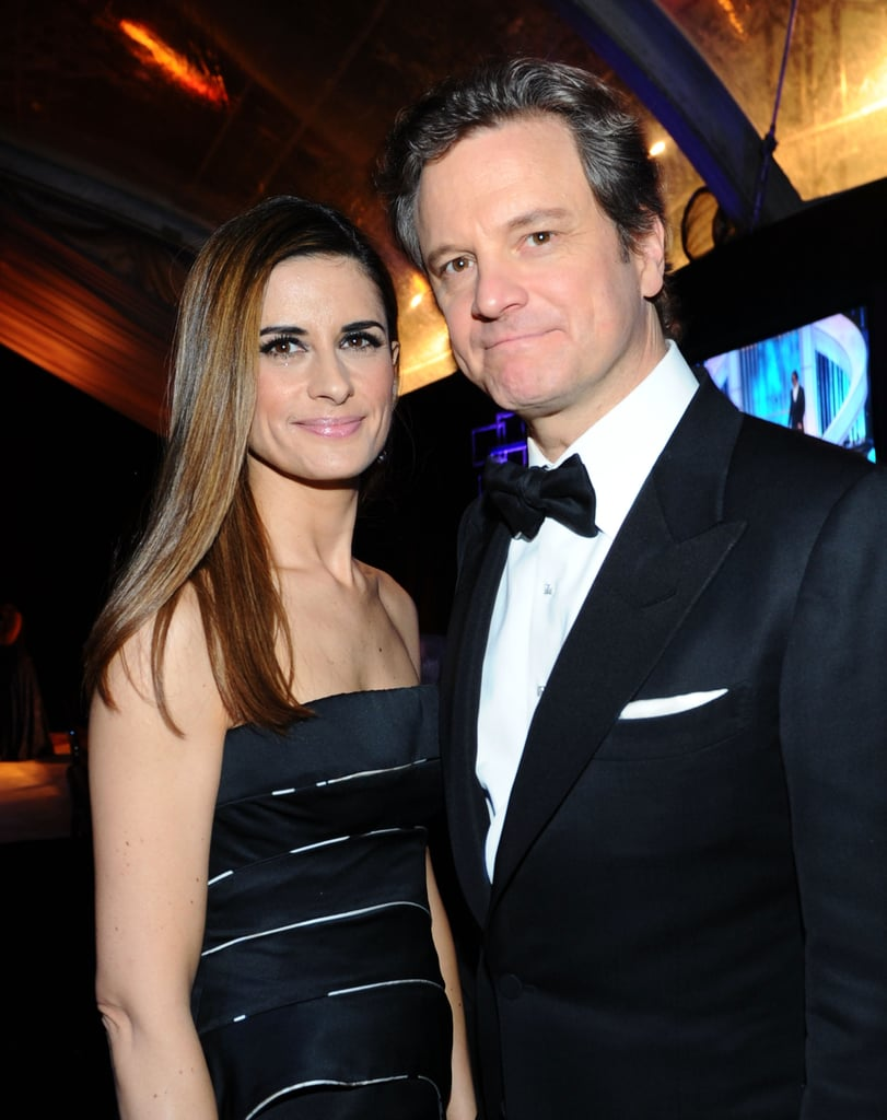 Colin Firth posed with...