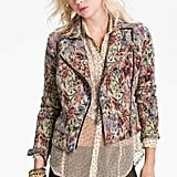We're loving how Free People's Floral Tapestry Moto Jacket ($148) contrasts a sweet print with a slightly edgy silhouette.