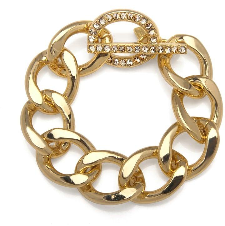 Kenneth Jay Lane Gold Chain Bracelet
