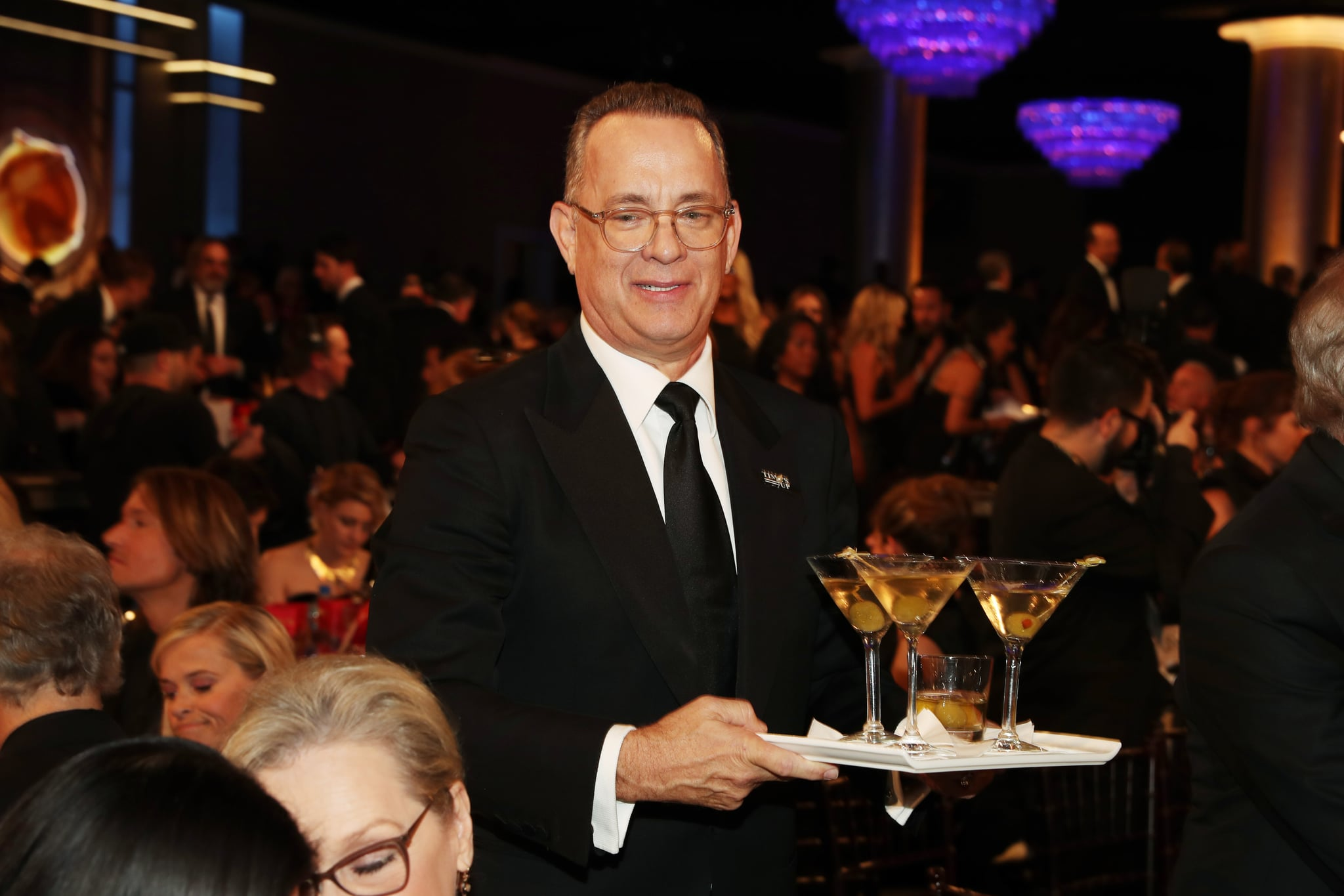 Image result for tom hanks martinis golden globes