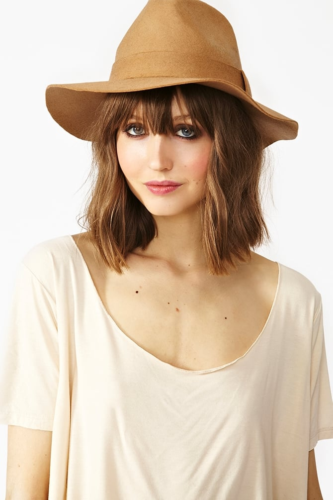 We can't resist a wide-brimmed wool hat, and Nasty Gal's Stevie Wool Hat ($30) is perfect in its bohemian splendor.
