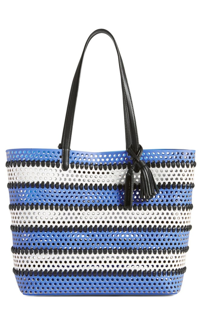 Loeffler Randall Perforated Stripe Tote ($495)
