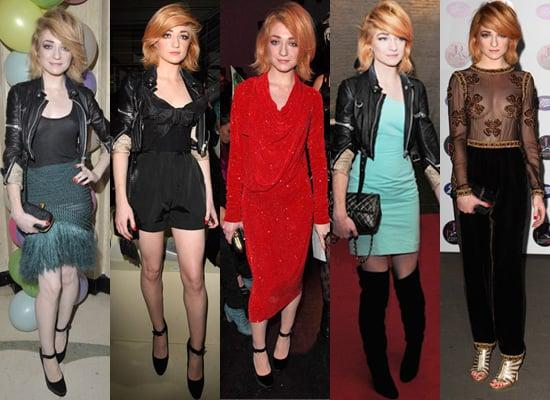Photos of Nicola Roberts at London Fashion Week Spring 2010