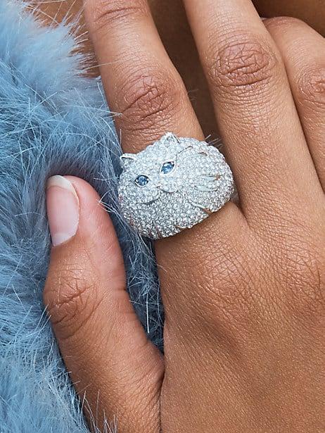 Kate Spade Pretty Kitty Pavé Ring