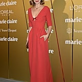 Arizona Muse in Louis Vuitton at the Marie Claire Prix de la Moda Awards.