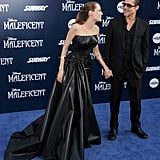 Angelina Jolie and Brad Pitt looked stunning at the Maleficent premiere in LA on Wednesday.