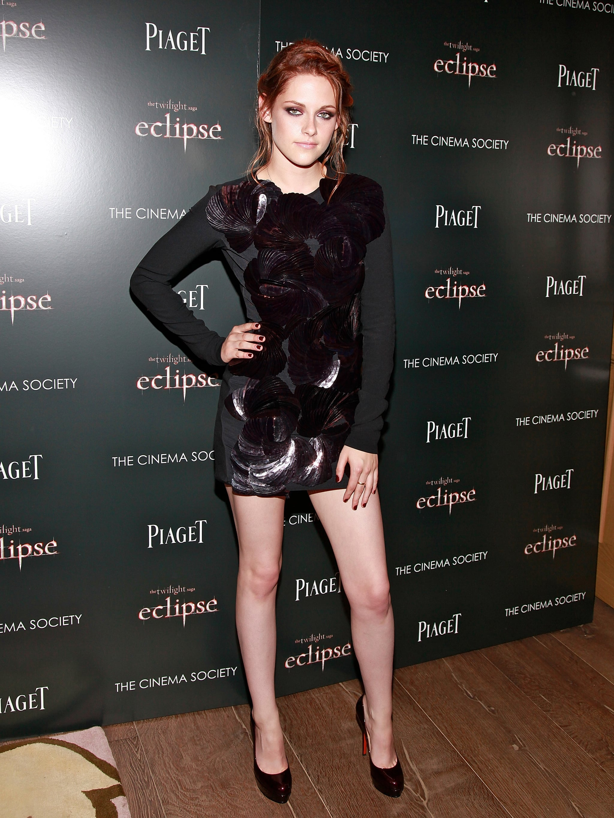 A moody RM by Roland Mouret mini, featuring three-dimensional add-ons, set tongues wagging for the New York screening of Eclipse in 2010.