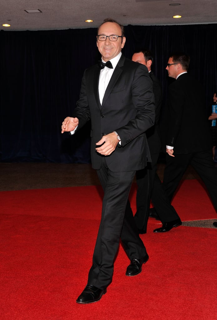 Kevin Spacey arrived at the White House Correspondant's Dinner.