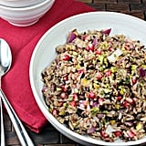 Liven up rice pilaf by bringing some extra crunch to the meal. This pomegranate wild rice pilaf is simple to create but makes for an elegant side dish for any Fall-themed meal.