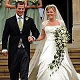 Autumn Phillips at Her Wedding in May 2008